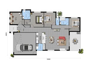 The Blue Flower - Floorplan