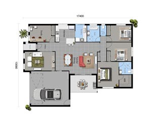 The Blue Spruce - Floorplan