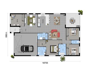 The Blue Taro - Floorplan