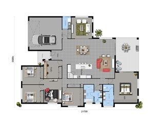 The Blue Wattle - Floorplan